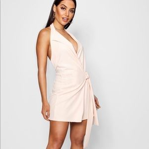 BRAND NEW NWT nude wrap low cut dress